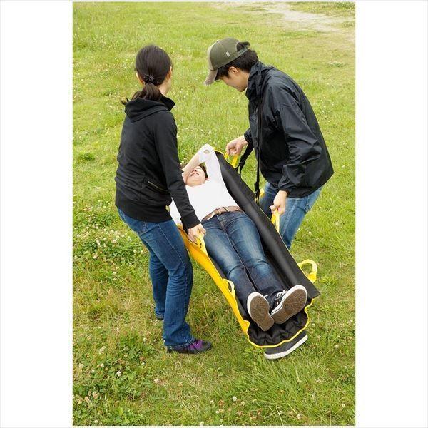 (あすつく)エコロヴィーバルーン:エアバッグ式担架 簡易ベッド リフト スライドシート 防災 介護 浮き輪 持ち運び ycou
