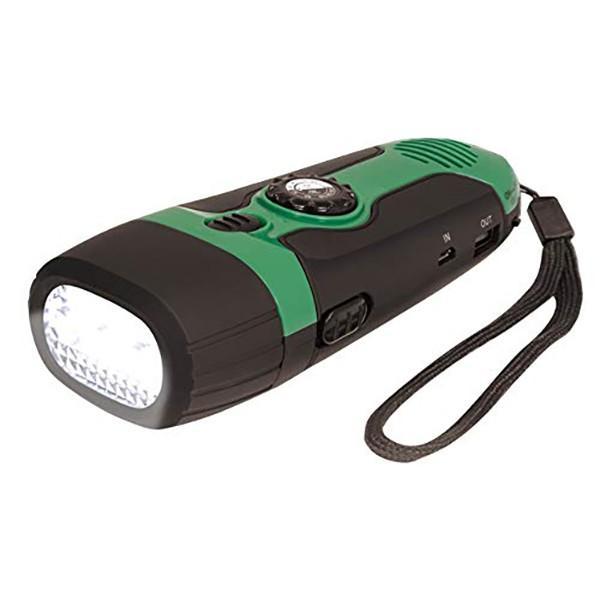 HAC:ダイナモ充電式・多機能ライト 多機能防災ラジオ ポータブルラジオ 防災グッズ AM/FMラジオ スマホ充電 HAC2390