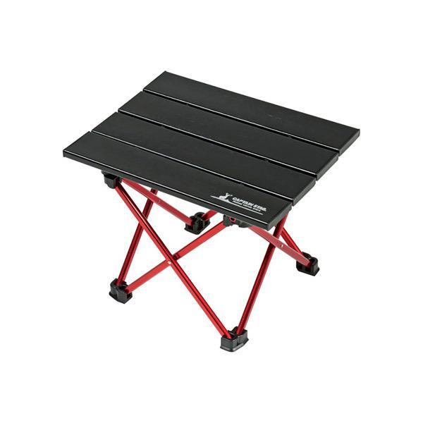 キャプテンスタッグ:トレッカー アルミロールテーブル<ミニ>(ブラック) UC-0530 ミニテーブル テーブルテーブル コンパクト
