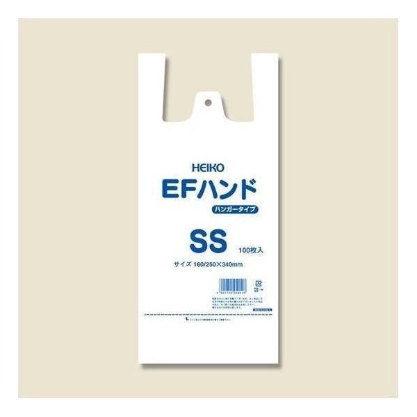 シモジマ:HEIKO レジ袋 EFハンド ハンガータイプ SS 100枚 006645911