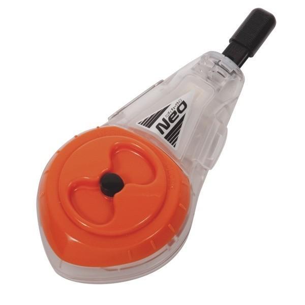 シンワ測定:ハンディチョークライン Neo 自動巻 細糸 バレンシアオレンジ 77963
