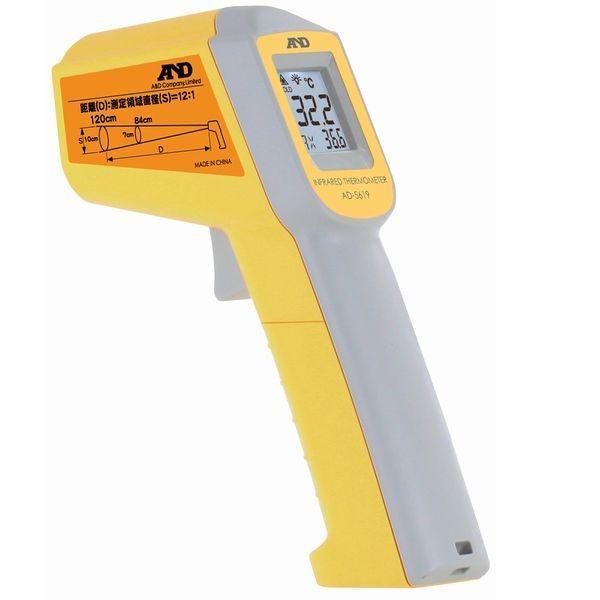 100円クーポン A&D:レーザーマーカー付き赤外線放射温度計 AD-5619