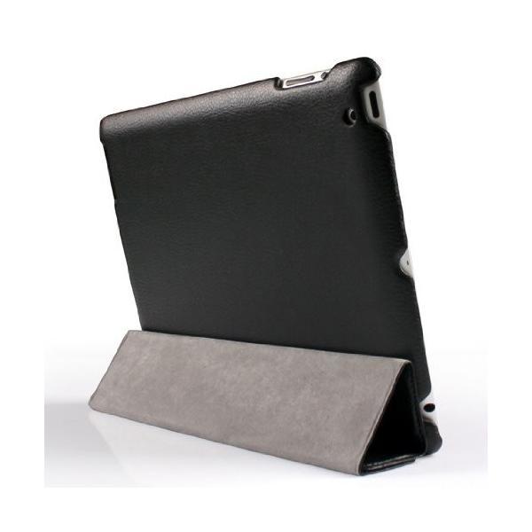 【日本正規代理店品】 JISONCASE 【iPad 2/第3世代iPad/第4世代iPad用バックケース&スマートカバー】 マグネチックスマートレザーケース 革|cocoto-case|02