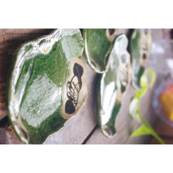 5個セット 織部グリーンのフラワー多用皿 ギフト箱入り 和食器 セット 食器 福袋 新生活 皿 プレート|cocottepot|19
