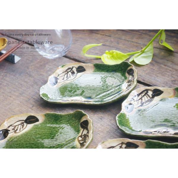 5個セット 織部グリーンのフラワー多用皿 ギフト箱入り 和食器 セット 食器 福袋 新生活 皿 プレート|cocottepot|05