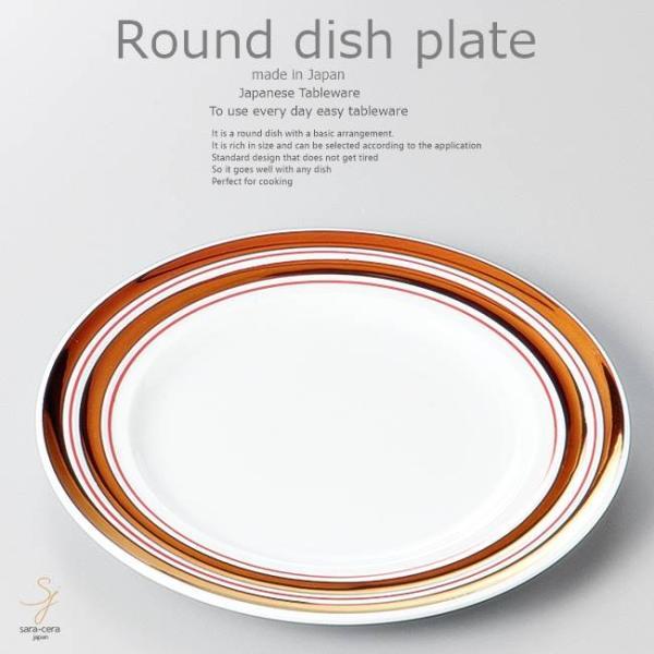 和食器鶏むね肉ポン酢焼赤銅駒筋皿19.5×2cmプレート丸皿おうちごはんうつわ食器陶器日本製インスタ映え