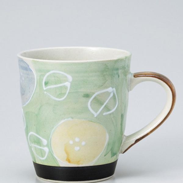 和食器 軽々柚子一珍花 マグカップ ヒワ カフェ コーヒー 紅茶 珈琲 お茶 オフィス おうち 食器 陶器 おしゃれ うつわ