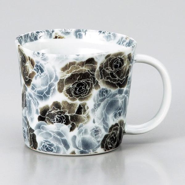 和食器 黒薔薇 マグカップ コーヒー 珈琲 紅茶 カフェ おしゃれ 陶器 うつわ おうち 軽井沢 春日井 ギフト