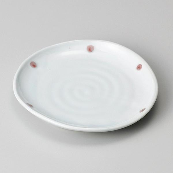 和食器 青磁紅玉たわみ 丸皿 15×14.5×2.1cm プレート うつわ 陶器 おうち ごはん カフェ おしゃれ 軽井沢 春日井