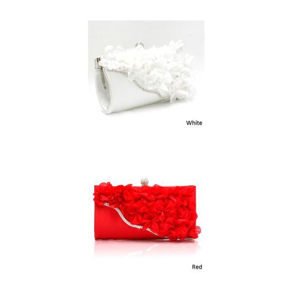 【予約商品】【9カラー】 ラインストーン 花びら パーティー バッグ