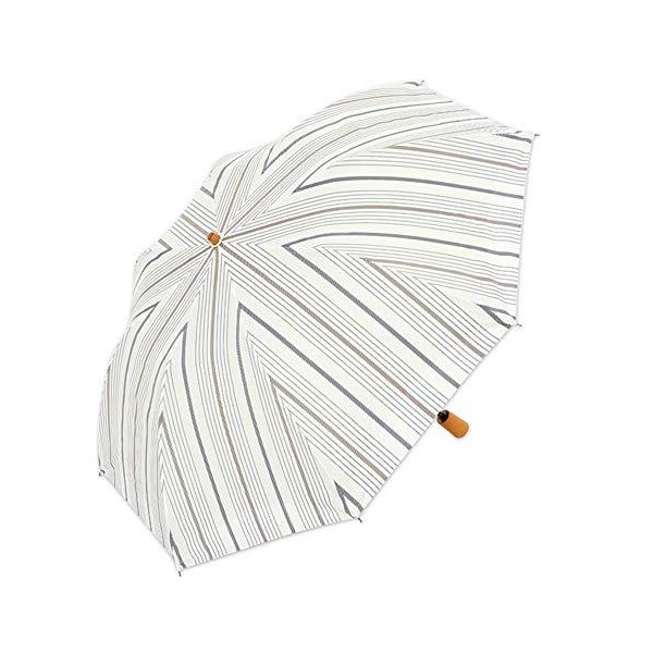 日傘 ショート日傘 折りたたみショート 晴雨兼用傘 完全遮光 遮熱 UVカット 紫外線遮蔽率100% ボーダー柄 大判 トップレス 母の日 母の日 ギ