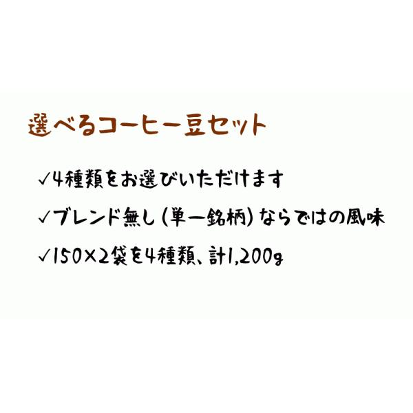 コーヒー豆 選べるセット 15銘柄から4種類|coffee|02