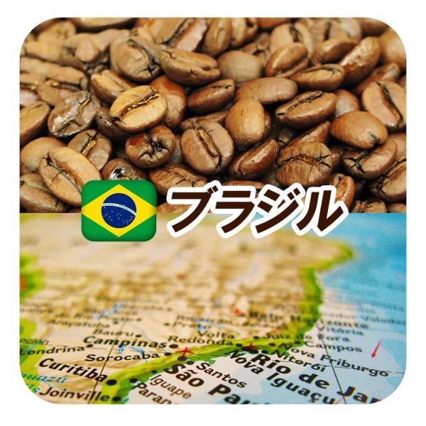 コーヒー豆ブラジル・サントス・No.2・スクリーン18M中深煎り200gメール便