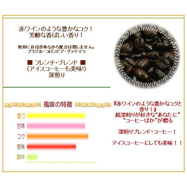 深煎りコーヒー豆 フレンチ・ブレンド 250g 30杯〜45杯 メール便 coffeebaka 02