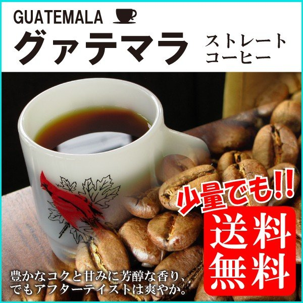 コーヒー豆/粉グァテマラSHB中深煎り-150gメール便消化無食品お試し