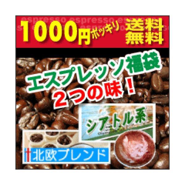 エスプレッソ用コーヒー豆人気福袋シアトル&北欧ブレンドset各100g合計200gメール便