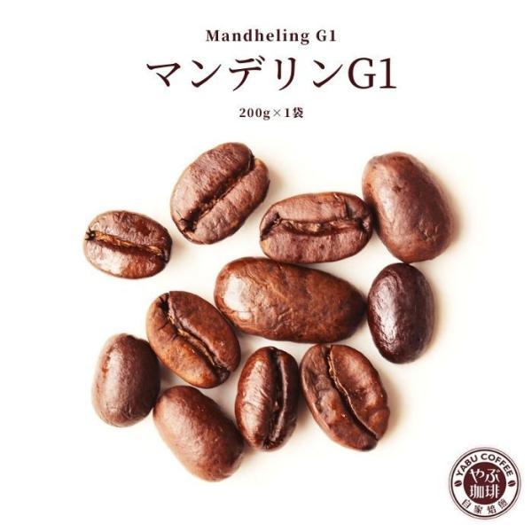コーヒー豆 マンデリンG−1 200g|coffeeyabu