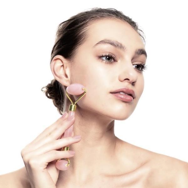 美顔ローラー フェイスローラー フェイスケア 小顔 天然石 モデル abundy meローズクォーツローラー「メール便不可」コジット|cogit|13
