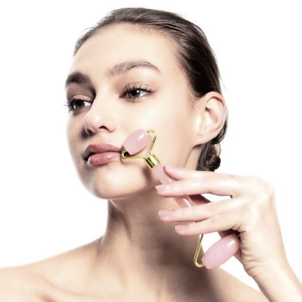 美顔ローラー フェイスローラー フェイスケア 小顔 天然石 モデル abundy meローズクォーツローラー「メール便不可」コジット|cogit|10