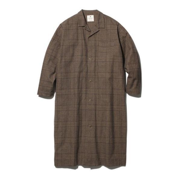 スノーピーク ナシジ ロングシャツジャケット グレンチェック レディース メンズ 梨地 アウトドア ブラウン ブラック S M L JK-19AU207|coldbeck|02
