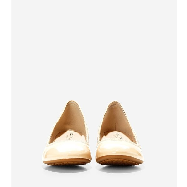 コールハーン Colehaan アウトレット レディース シューズ バレエ & フラット セイディ ウェッジ 40mm womens W09862 ヌード パテント ウォータープルーフ