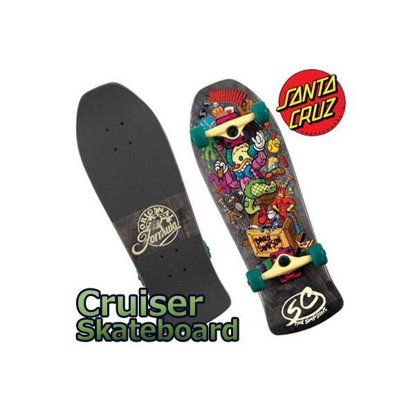 Santa Cruz Skate Simpsons Bart Toybox Mini Cruzer Skateboard Deck (26x8.8-Inch)  サンタクルズ クルーザー スケートボード collc