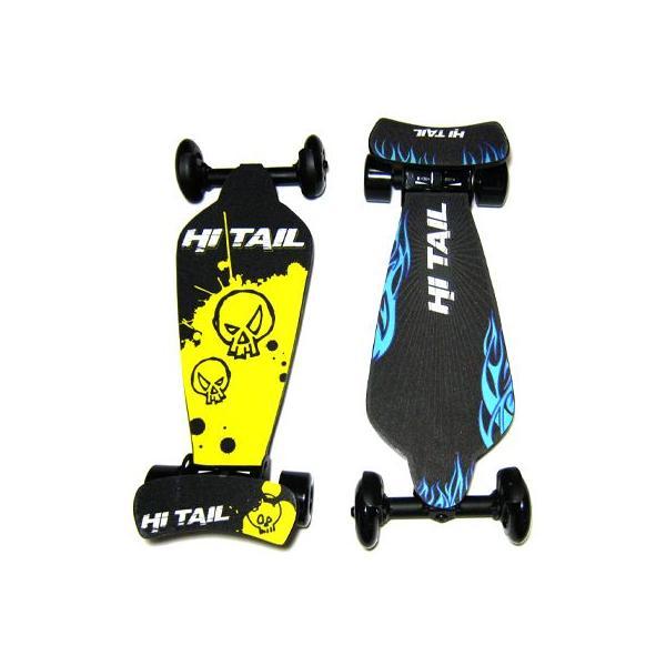 ☆ポイント10倍☆ スケボー  Hi Tail FootBoard ハイテール フット クルーザー ニュータイプ ウッドデッキ コンプリート スケートボード|collc|03
