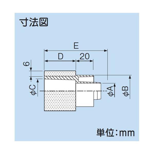 因幡電工/イナバ VP管ジョイントφ25 50個セット DSH-25NV