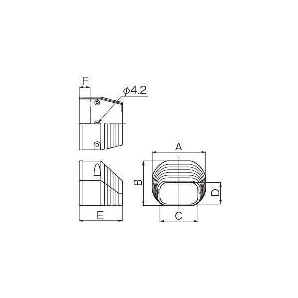 因幡電工/イナバ スリムダクト LD 末端カバー LDEN-90-I/LDEN90I アイボリー 10個セット