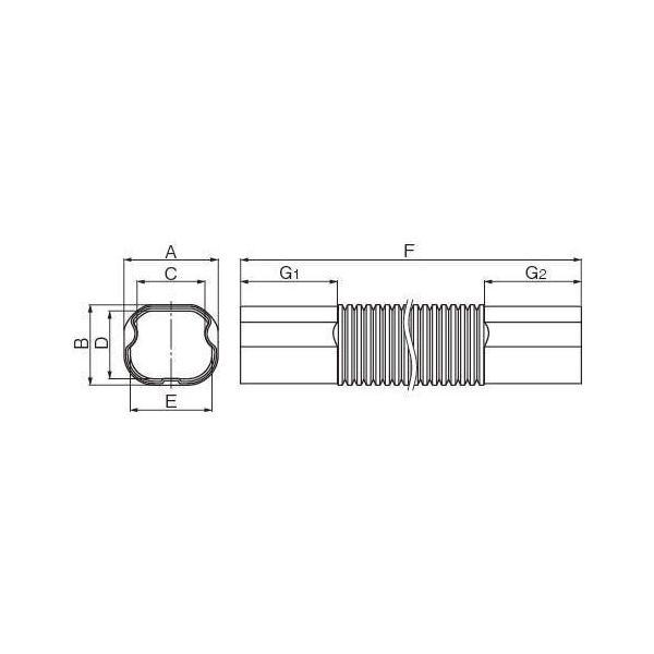 因幡電工/イナバ スリムダクト LD フリーコーナー LDF-90-800-G/LDF90G グレー 10個セット