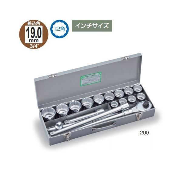 TONE 前田金属工業 ソケットレンチセット 200