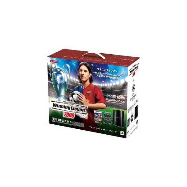 PlayStation3本体 80GB クリアブラック ウイニングイレブン×UEFA Champions LeagueアニバーサリーBOXの画像