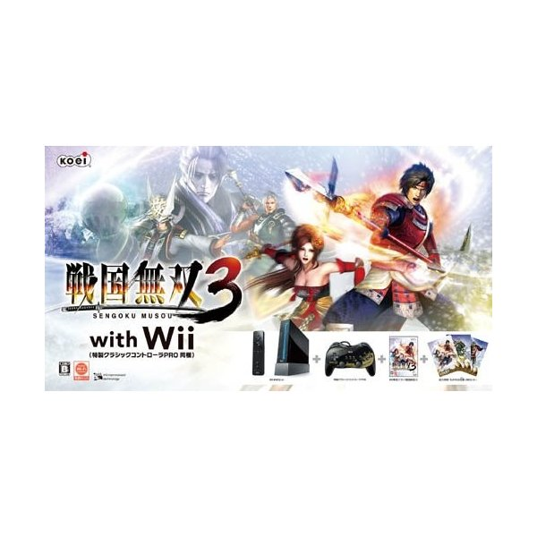 Wii 戦国無双3 with Wii 特製クラシックコントローラPRO 同梱の画像