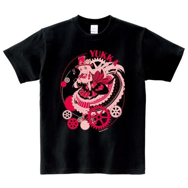 白黒コラボキャラクターTシャツ:ユッカ L