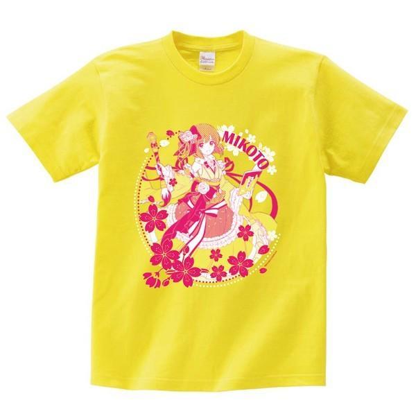 白黒コラボキャラクターTシャツ ミコト サイズ:M|colopl-store