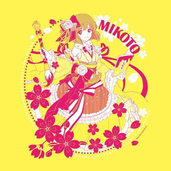 白黒コラボキャラクターTシャツ ミコト サイズ:M|colopl-store|02