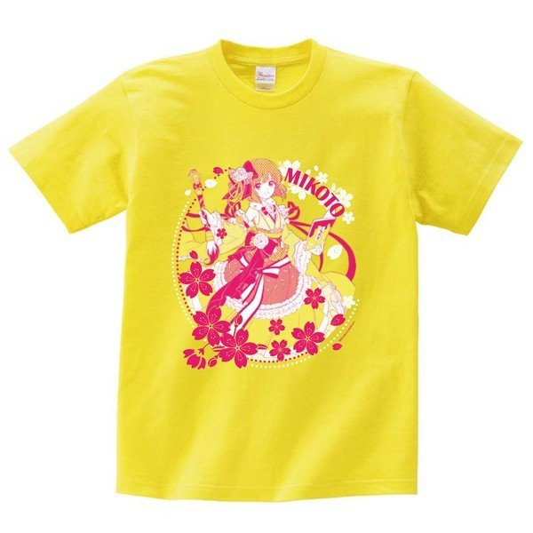 白黒コラボキャラクターTシャツ:ミコト L