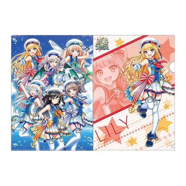 白黒テニス☆ドリームコラボ アイドルωキャッツ! クリアファイルセット リリー colopl-store 03