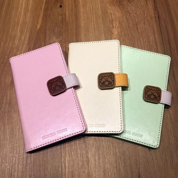 手帳型スマートフォンケース 和風星たぬき 三色だんご ピンク|colopl-store|03