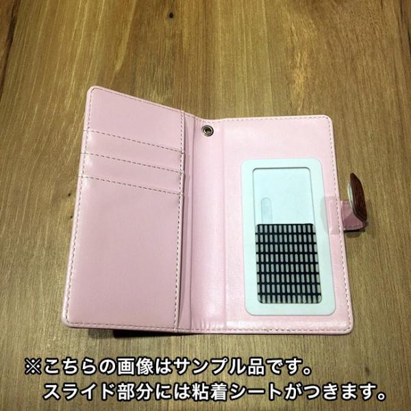 手帳型スマートフォンケース 和風星たぬき 三色だんご ピンク|colopl-store|04