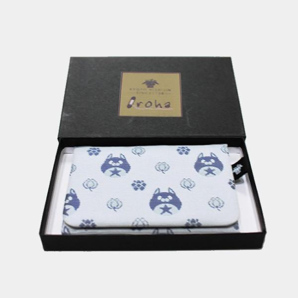 西陣織 星たぬきパスケース ブルー|colopl-store