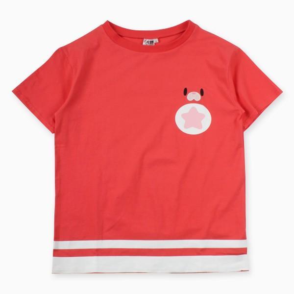 星たぬきTシャツ PNK