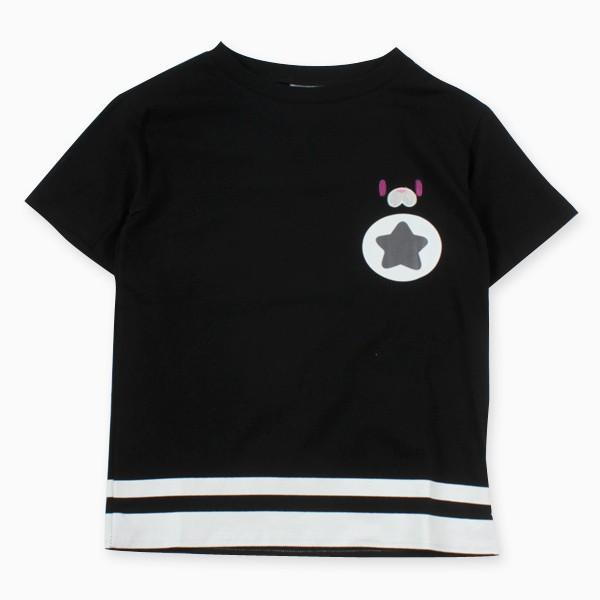 星たぬきTシャツ BLK|colopl-store