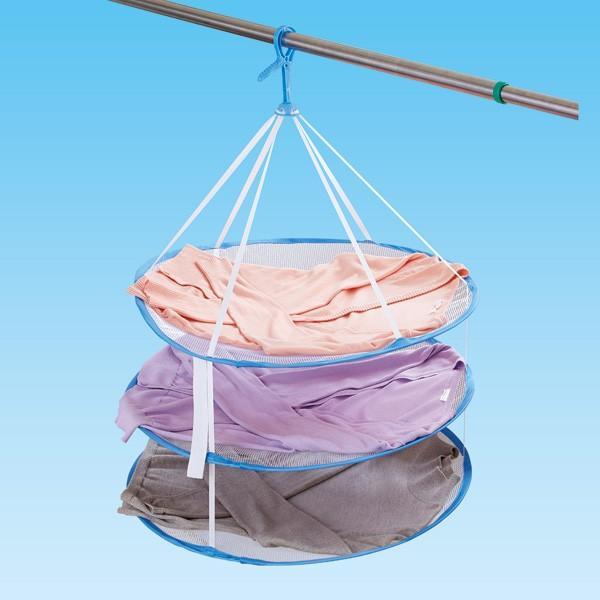 洗濯ハンガー かんたんニット干しネット 3段タイプ ( 平干しネット 平干しハンガー 3段 )
