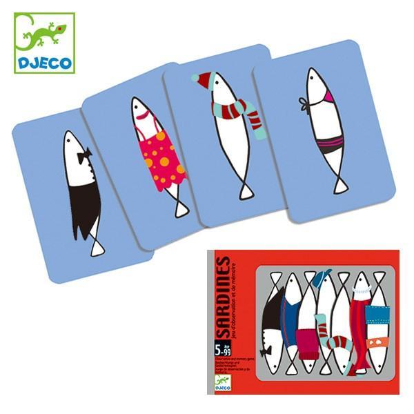 ゲーム カードゲーム サーディンズ 子供 知育玩具 ジェコ DJECO ( カード 魚 絵合わせ 柄合わせ 幼児 )