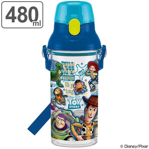水筒 子供 トイ・ストーリー 直飲み ワンプッシュボトル プラスチック製 480ml 食洗機対応 ( 軽量 プラスチック 子供用水筒 おすすめ )
