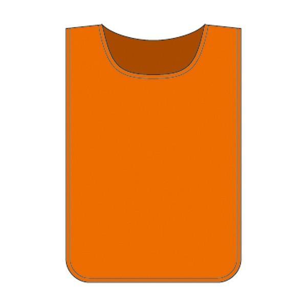ゼッケン 布 ビブス オレンジ 無地 面ファスナー付き ( 安全用品 ベスト 安全ベスト カラー )