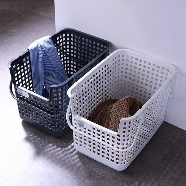 ランドリーバスケット スタッキングベース LBB-06C バイオプラスチック配合 ( 洗濯かご バスケット ランドリーボックス ライクイット )