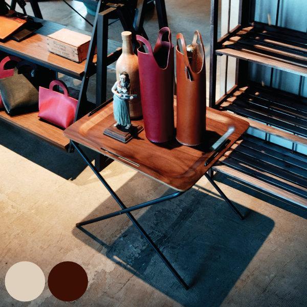 折りたたみテーブル 幅50cm フォールディングテーブル トレー テーブル 机 つくえ お盆 サイドテーブル 木製 スチール製 ( 折り畳み アウトドア 高さ調節 )