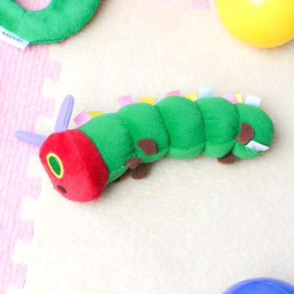 ガラガラ はらぺこあおむし ラトル おもちゃ 玩具 赤ちゃん キャラクター ( にぎにぎ がらがら 鈴入り ベビーラトル ファーストトイ ベビー用品 )